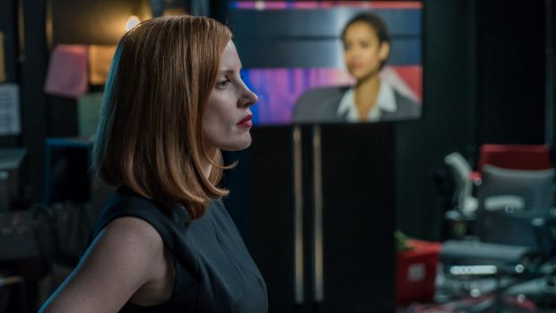 Jessica Chastain's character in <i>Miss Sloane</i> is dedicated to her very important job.