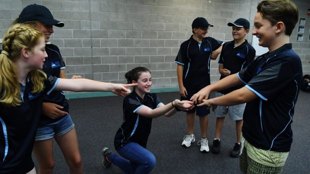 Year 7 students from Aurora College at their residential stay at Narrabeen.