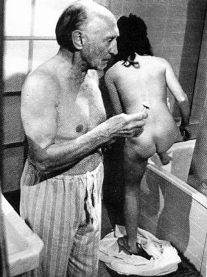 Nude and rude: <i>Number 96</i> actor Ron Shand and friend.