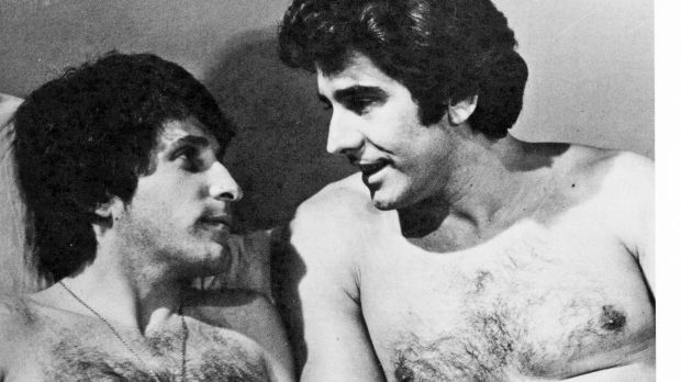 Ground-breaking: actors Joe Hasham (left) and John Orcsik in a scene from <i>Number 96</i>.