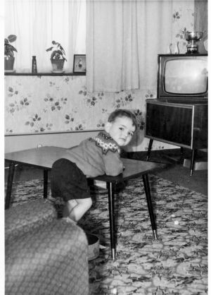 Author Nigel Giles as a child.