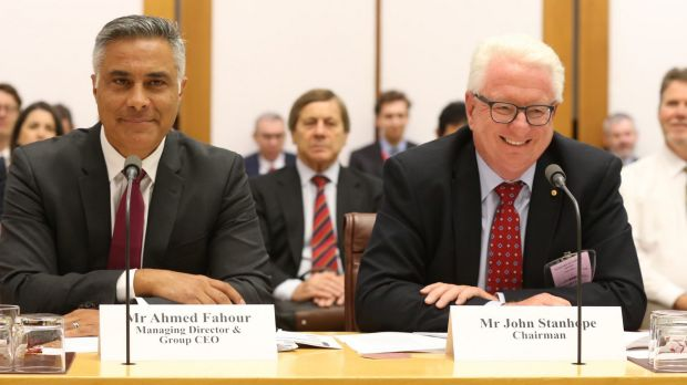 Ahmed Fahour – outgoing chief executive of Australia Post – and chairman John Stanhope appeared before Senate estimates ...
