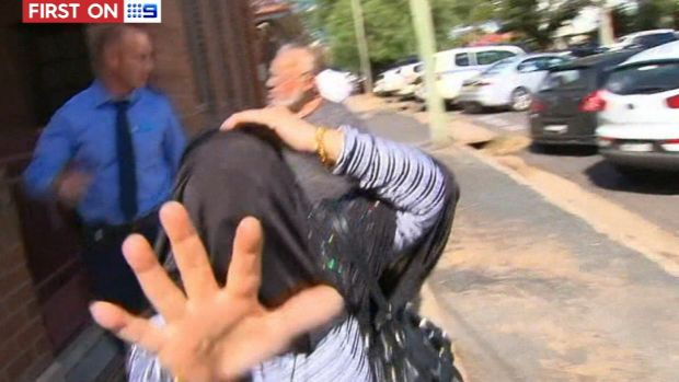 Haisem Zahab's wife lashed out at a television camera after his appearance in Young Local Court on Tuesday.