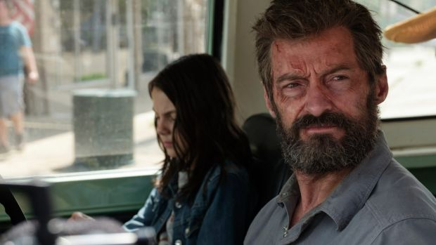 Hugh Jackman cops a beating as this older Wolverine in Logan.
