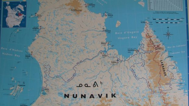 The area of Canada in northern Quebec where the structures were discovered.