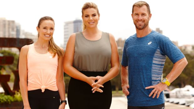'I've learned never to judge': Trainer Shannan Ponton, right, with new coach Libby Babet, left, and host Fiona Falkiner.