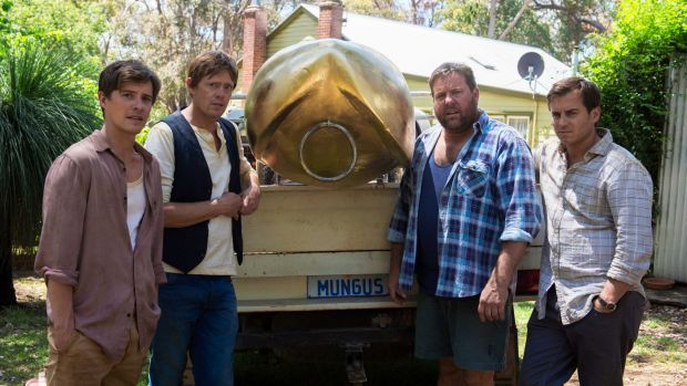 Dead unfunny: Xavier Samuel, Kris Marshall, Shane Jacobson and Kevin Bishop in <i>A Few Less Men</i>.