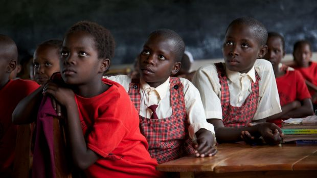 Young Maasai girls listen intently during classes at the Kakenya Centre for Excellence. Their parents have had to agree ...