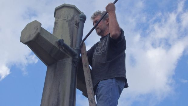 Photos of the Catholic Worker movement members vandalising the Cross of Sacrifice on Ash Wednesday were emailed to ...