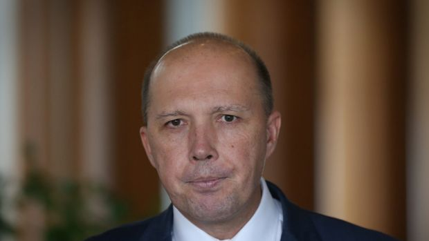 Immigration minister Peter Dutton pictured at Parliament House in Canberra on March 2.