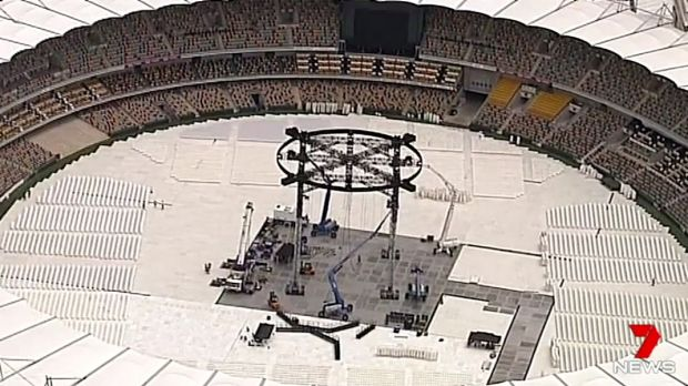 The Adele concert damaged the Gabba pitch.