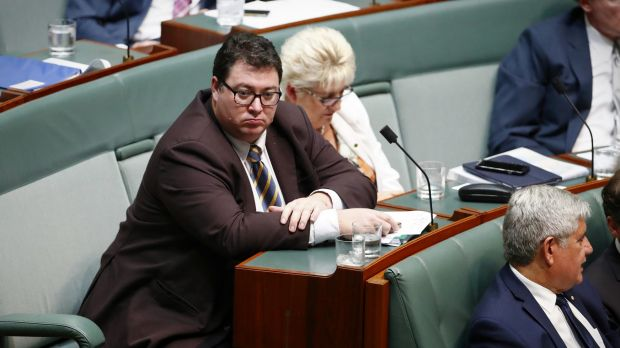 National Party MP George Christensen during question time on Thursday.