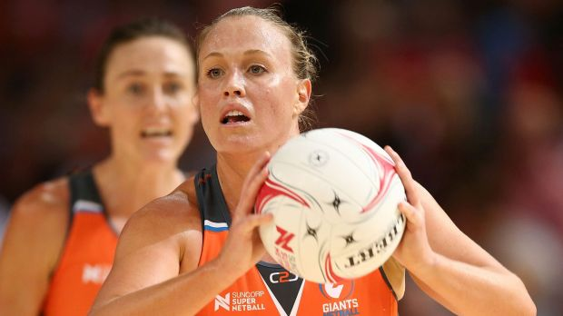 Concentrating on the positives: Giants star Kim Green has made the best of her injury lay-off.