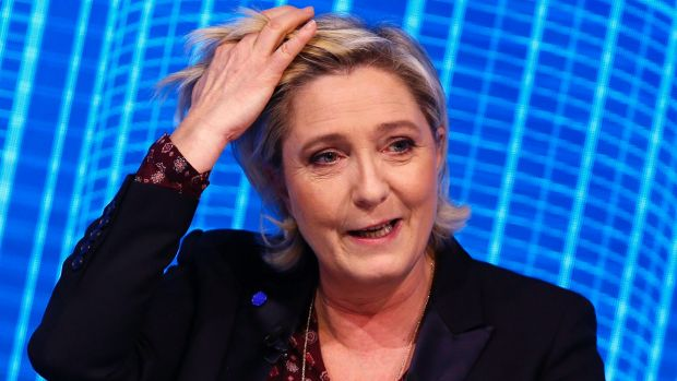 Marine Le Pen, the French far-right presidential candidate.