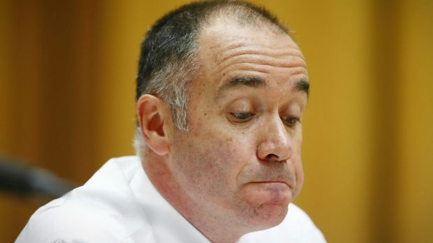 Friday's Senate committe hearing was not a pleasant affair for National Australia Bank boss Andrew Thorburn.
