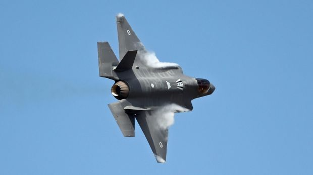 One of the two new Australian Joint Strike Fighters at the Avalon Airshow in March