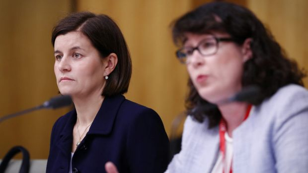 Commonwealth Bank Wealth Management general executive Annabel Spring and CommInsure managing director Helen Troup during ...