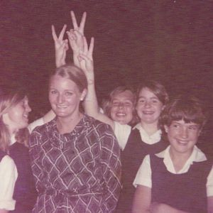 Goodwin's first appointment as a very young teacher in 1969, St George Girls High School.