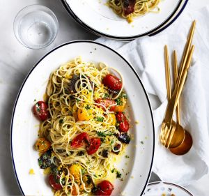 Neil Perry's spaghetti with bottarga.