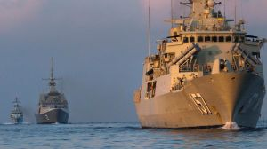 Australia takes part in a training exercise conducted with New Zealand, Malaysia, Singapore and United Kingdom in the ...