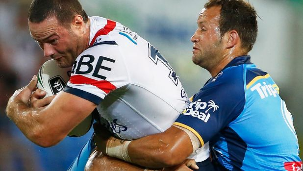 Holding on tight: Boyd Cordner carries the ball.
