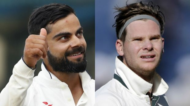 War of words: Virat Kohli and Steve Smith.