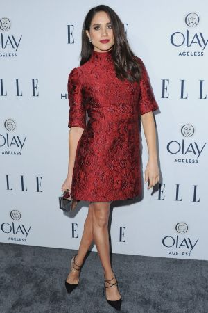 Actress Meghan Markle arrives at ELLE's 6th Annual Women In Television Dinner at Sunset Tower Hotel.