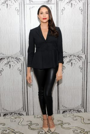 Actress Meghan Markle discusses her role in Suits during AOL Build at AOL Studios In New York.