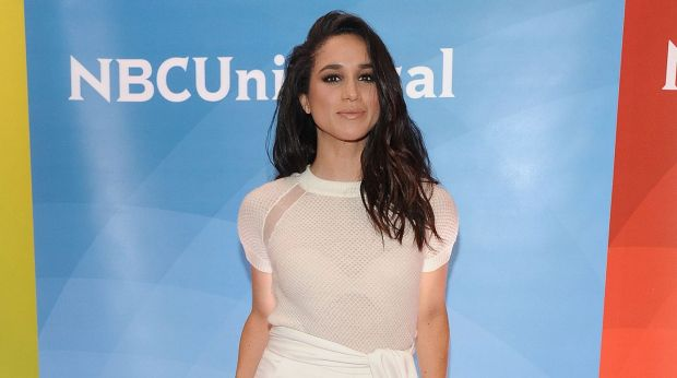 Meghan Markle sports a chic look in all white in New York City, 2015.