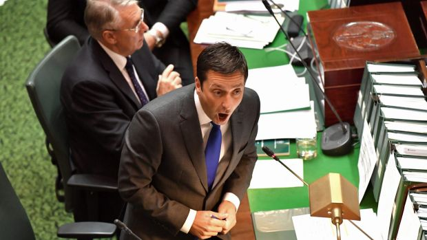 Opposition leader Matthew Guy was fired up.