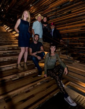 The creative team behind the Art, Not Apart festival in Canberra on March 18. Back row: Anna Trundle, program manager; ...