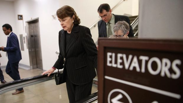 Matter of loyalty: Senator Dianne Feinstein, centre, vice chair of the Senate Intelligence Committee, wants the role of ...