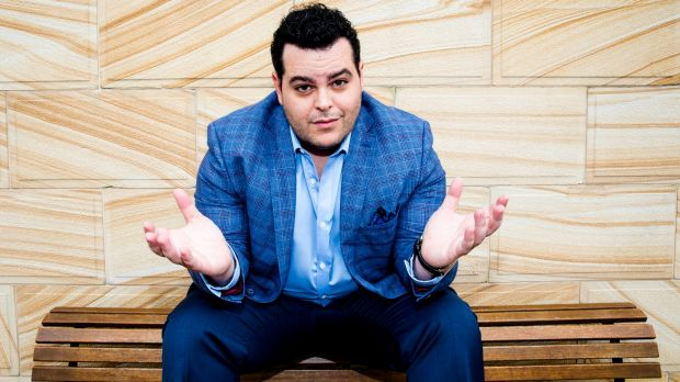 Josh Gad in Sydney for the <i>Beauty and the Beast</i> premiere.