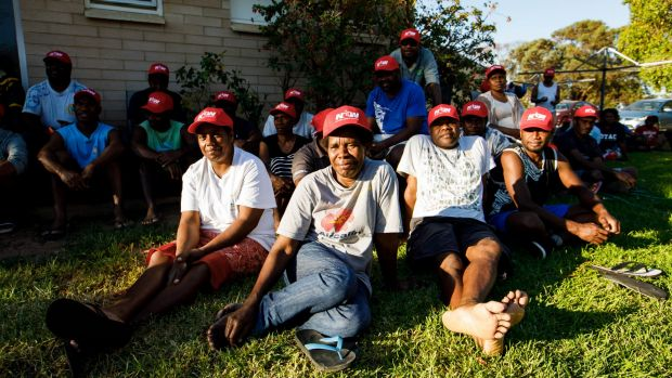 Migrant workers from Vanuatu meeting over the company's action.