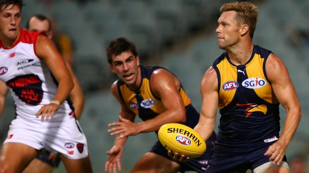 Sam Mitchell's pinpoint handball is a weapon the Eagles will utilise in 2017.