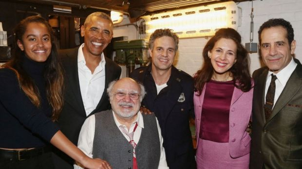 On a father-daughter date night last month, Barack Obama attended a Broadway play with daughter, Malia.