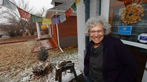 Vicki Tosher, a breast cancer patient, at home in the south Denver suburb of Englewood, Colorado. She likes her ...