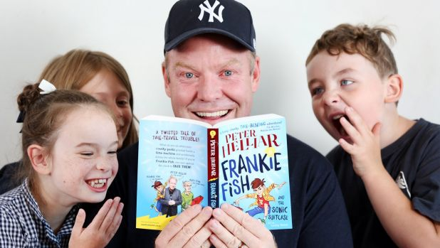 Now top of the pops with Kids: Peter Helliar and his first children's book, Frankie Fish and the Sonic Suitcase.