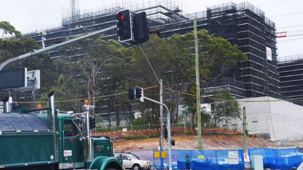 The Northern Beaches Hospital, now being built on part of Duffy's Forest.