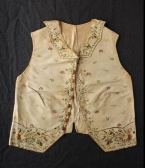 The waistcoat belonging to Captain James Cook is to be auctioned by Aalders Auctions in March, 2017.