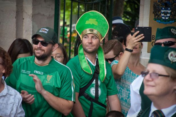 Green was the theme as Brisbane celebrated St Patrick's Day.