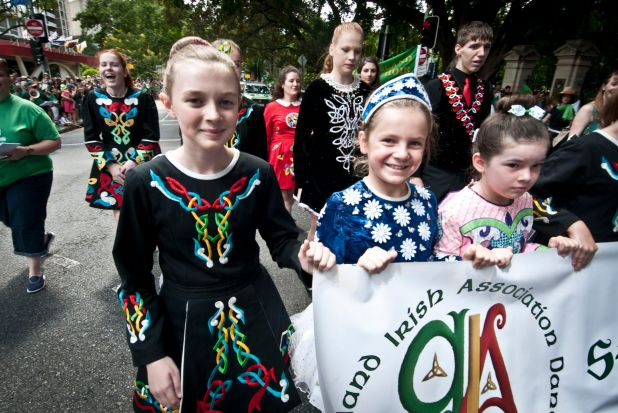 Irish dancers joined the parade.