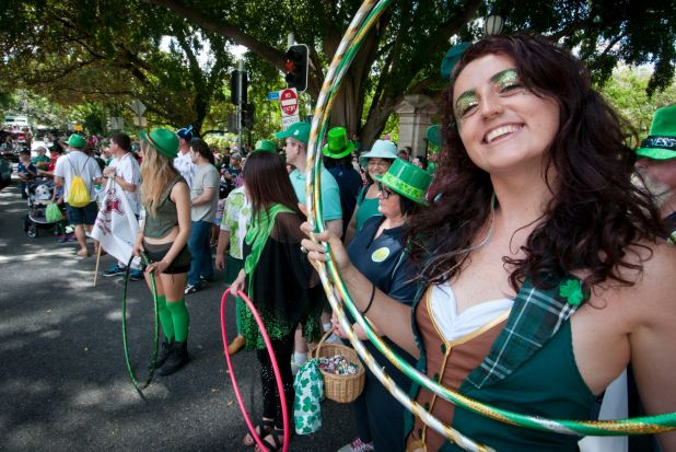 Irish pride was smiling for the St Patrick Day parade in Brisbane on Saturday.