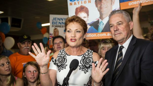 Pauline Hanson on the night of the West Australian election.