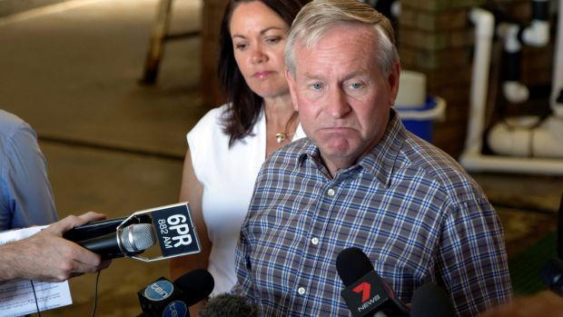 Andrew Cox presided over the WA Liberal Party's campaign which saw Colin Barnett, pictured, lose office in March.