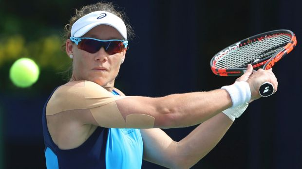 Samantha Stosur has lost at Indian Wells.