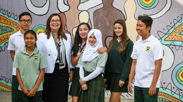 The diverse language population offers a wealth of benefits for teachers and students: (From left) Brandon Wu, Anchisa ...
