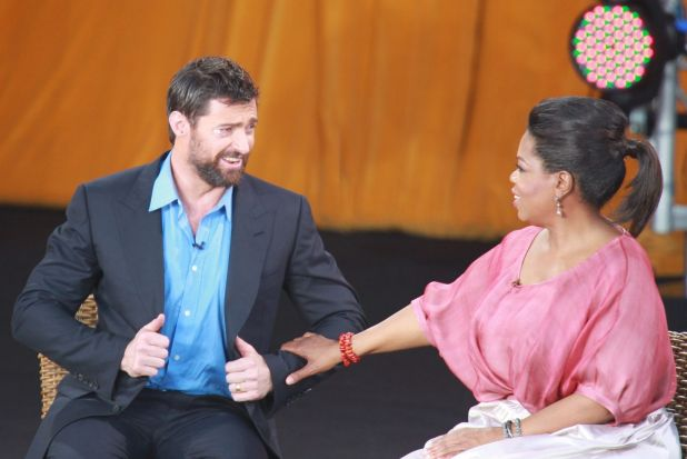 "Walking out on to the Oprah stage, Hugh Jackman said it was ""as close as I'll become to feeling like a rockstar.'"" ""At ..."