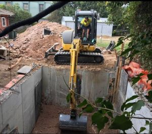 A cellar being dug next to a property in Narrabundah, without consultation with the neighbours. The cellar is within the ...