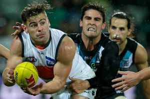 Stephen Coniglio of the Giants, left, has been injured for the past 10 weeks.